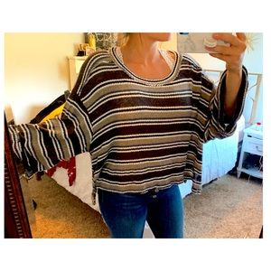Tops - Knit striped top